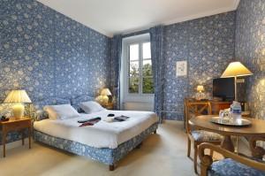 Chambre king size, lits jumeaux du château hôtel de la Rozelle
