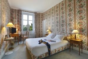 Chambre privilège orange du château hôtel de La Rozelle