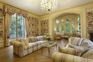 Grand salon de réception au château hôtel de La Rozelle et salle de séminaire