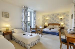 Chambre quadruple ou familiale du château hôtel de La Rozelle