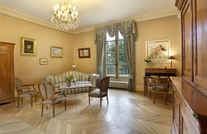 petit salon du château hôtel de La Rozelle