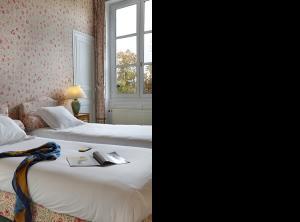 Chambre privilège King size ou lits jumeaux au Château Hôtel de La Rozelle